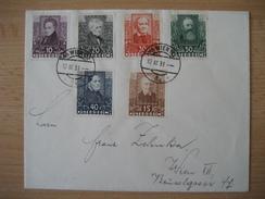 ÖSTERREICH 1931 - FDC Tagesstempel, Österreichische Dichter, - FDC