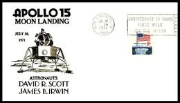 USA: 'Apollo-15 In Space - Lunar Landing - Cape Canaveral, 1971' - Briefe U. Dokumente
