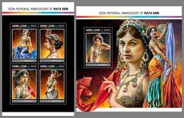 SIERRA LEONE 2017 - Mata Hari, M/S + S/S. Official Issue. - Femmes Célèbres