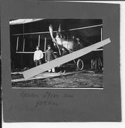 Aviation Allemande Aérodrome Avion Sous Hangar Pilote Et Mécaniciens 1 Photo 14-18 1914-1918 Ww1 1wk - War, Military