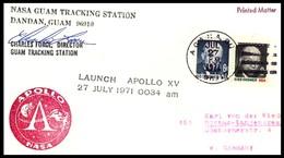 USA: 'Apollo-15 In Space - Guam Tracking Station, 1971' - Briefe U. Dokumente