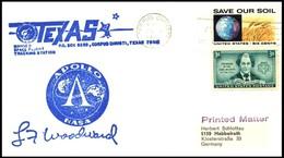 USA: 'Apollo-15 In Space - MSFN Station Corpus Christi, Texas, 1971' - Briefe U. Dokumente