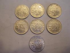Cinquante Centimes 1898, 1907, 13, 16, 17, 18, 19 (sept Piéces) - G. 50 Centimes