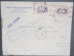 FRANCE / RÉUNION - Enveloppe De La Réunion Pour La France En 1947 Avec Griffe Commémorative Aérienne - L 6608 - Reunion Island (1852-1975)