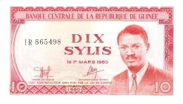 GUINEE   10 Sylis   1980   P. 23a   UNC - Guinea