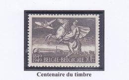 BELGIQUE 1949 CENTENAIRE DU TIMBRE  PA 24 MNH - Airmail