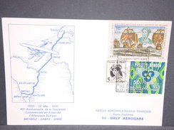 BRÉSIL - Carte Commémorative De La Traversée Atlantique Par Mermoz /Dabry /Gimié En 1970 - L 6629 - Cartas