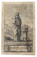 S. FRANCESCA ROMANA   INCISIONE - Devotion Images