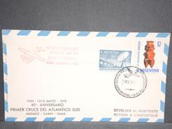 ARGENTINE  - Enveloppe Commémorative De La Traversée Atlantique Par Mermoz /Dabry /Gimié En 1970 - L 6632 - Cartas