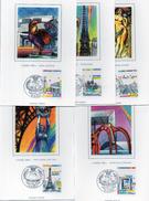 Carte Maximum - 2579/83 Monuments De Paris - Maximum Cards
