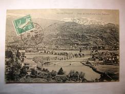 Carte Postale Grenoble (38) Pont De L'Ile Verte - Le Taillefer  (CPA Oblitérée 1915 Timbre 5 Centimes  ) - Grenoble