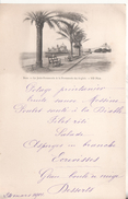 Menu 24 Mars 1901  Nice   La Promenade Des Anglais La Jetee - Menus