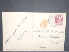 FRANCE / ALLEMAGNE - Oblitération De Nonnenhorn Sur Carte Postale En 1949 Pour Paris - L 6645 - Zona Francesa