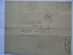 GB 1837 Entire Liverpool To Leeds With `Paid At Liverpool` 2 Line Box Mark - ...-1840 Préphilatélie