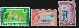 Cayman Islands, 3 Marken, Siehe Scan, Die Rechte Marke *, Die Beiden Anderen ** MNH - Kaimaninseln