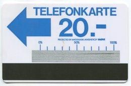 1638 - Testgebiet Telefonkarte - Autelca Blau