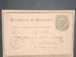 COLOMBIE - Entier Postal ( Plis ) Pour La Belgique En 1901 ( Souvenir De Voyage Sur Le Canal De Panama ) - L 6651 - Colombia
