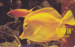 TARJETA DE PUERTO RICO DE UN PEZ AMARILLO (PEZ-FISH) (TERAFON)
