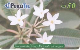 TARJETA DE NICARAGUA DE PUBLITEL DE LA FLOR SACUANJOCHE (FLOWER)