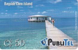 TARJETA DE NICARAGUA DE PUBLITEL DE BAYSIDE CORN ISLANDS