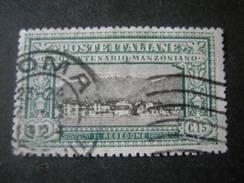 1923 - ALESSANDRO MANZONI, Cent. 15, Sass. N. 152, TTB, OCCASIONE - 1900-44 Vittorio Emanuele III
