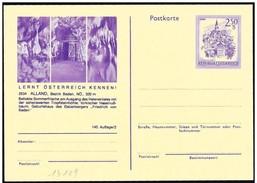 Austria/Autriche: Intero, Stationery, Entier, Grotte Di Alland, Alland Of Caves, Grottes De Alland - Geologie