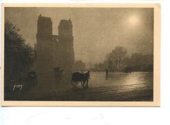 Paris En Flanant N°228 : Le Parvis De Notre Dame (vieilles Voiture Attelage Charette à Bras - Transports) Cp Vierge - Notre Dame De Paris