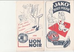LOT DE 3 BUVARDS  CIRAGE -  LION NOIR -JAKO BOOT POLISH - MOJAU - - Zapatos