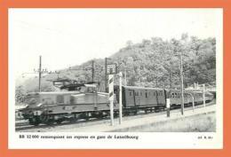 A597 / 051 BB 12000 Remorquant Un Express En Gare De LUTZELBOURG (voir Dos) - Railway
