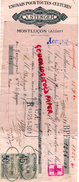 03 - MONTLUCON- TRAITE X. STENGER- ENGRAIS POUR TOUTES CULTURES-HORTICULTURE - 1899 - France