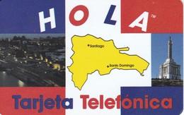 TARJETA DE LA REP. DOMINICANA DE LA CIUDAD DE SANTO DOMINGO  (HOLA)