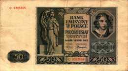 POLOGNE 50 ZLOTYCH Du 1-8-1940  Pick 102 - Poland