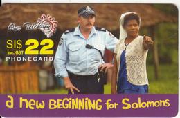 SOLOMON ISL. - Solomon Telecom Prepaid Card SI$22, Used