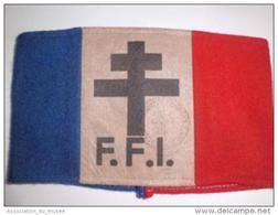 Rare Brassard D'époque De La Résistance Française FFI - 1939-45