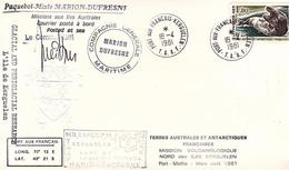 TAAF / PAQUEBOT MIXTE MARION DUFRESNE / MISSION VOLCANOLOGIQUE NORD KERGUELEN / N 90 - Terres Australes Et Antarctiques Françaises (TAAF)