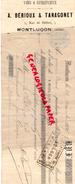 03 - MONTLUCON- TRAITE A. BERIOUX & TARAGONET- VINS SPIRITUEUX- 5 RUE BELFORT-1897 - France