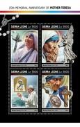 Sierra Leone 2017, Mother Teresa, Pope Francis, 4val In BF