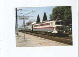 EN GARE D'AULNOYE (59) 384 TRACTE PAR LA CC 40109 UN TRAIN PARIS NORD - BRUXELLES MIDI VA S'ARRETER EN GARE  JUILLET 92 - Aulnoye