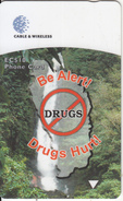 DOMINICA(GPT) - Be Alert Drugs Hurt, CN : 272CDMA, Tirage 20000, Used - Dominica