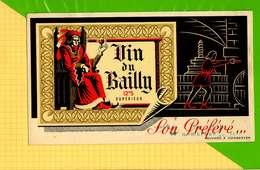BUVARD & Blotting Paper : Vin Du BAILLY   Recto Verso - Liquor & Beer