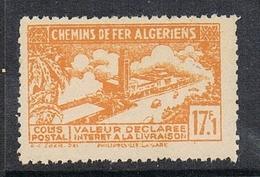 """ALGERIE COLIS POSTAL N°117 N**  Variété Sans Surcharge """"contrôle Des Recettes"""" - Algérie (1924-1962)"""