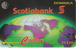 TARJETA DE DOMINICA DE $20 DE SCOTIABANK (8CDMA) - Dominica