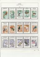 CUBA - SERIE OISEAUX - N° 1186 A 1200  NEUF X  TB LES 1C - 3C -13C  SONT AVEC LA VIGNETTE CLOCHETTES DE NOEL -COTE :25 & - Cuba