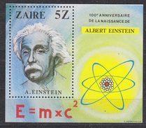 Zaire 1980 A. Einstein M/s ** Mnh (35276F) - Zaïre