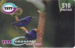 TARJETA DE TRINIDAD Y TOBAGO  DE UNOS PAJAROS (BIRD-PAJARO)