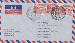 Flugpostbrief PAKISTAN - 3 Fach Frankiert - Pakistan