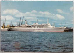 """Flagship S.s. ROTTERDAM Of The """"Holland-America Line"""", 1964 Used Postcard [19869]"""