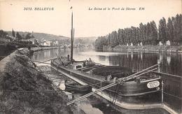 92-BELLEVUE- LA SEINE ET LE PONT DE SEVRES - Sevres