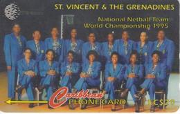 TARJETA DE ST. VINCENT & GRENADINES DE NATIONAL NETBALL TEAM 199SVDB
