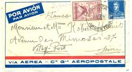 Lettre CGA 1930 Mendoza-France - Kommerzielle Luftfahrt